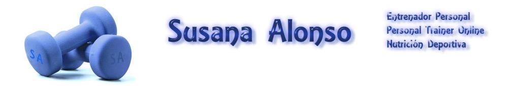 Entrenador Personal Online. Entrenador Personal Susana Alonso Fitness